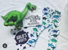 Blue Dinosaur Leggings