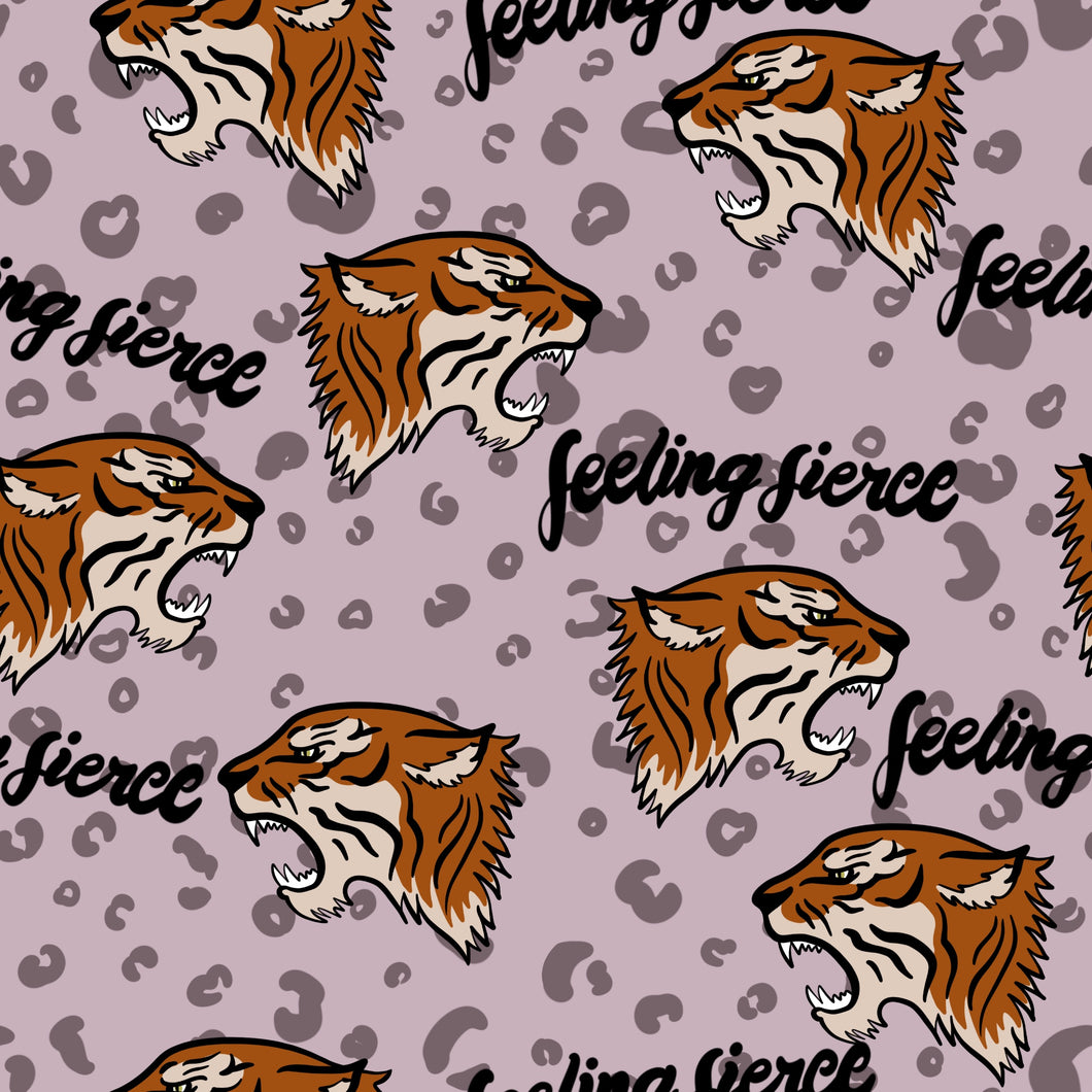 Feeling Fierce Tiger (Pink) Dungarees