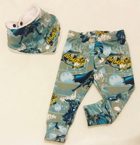 6-9m Batman Leggings & Bib