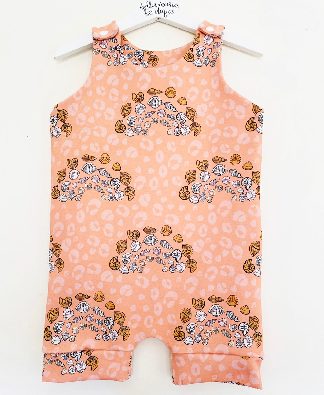 Wild Rainbow Sea Shells Short Romper