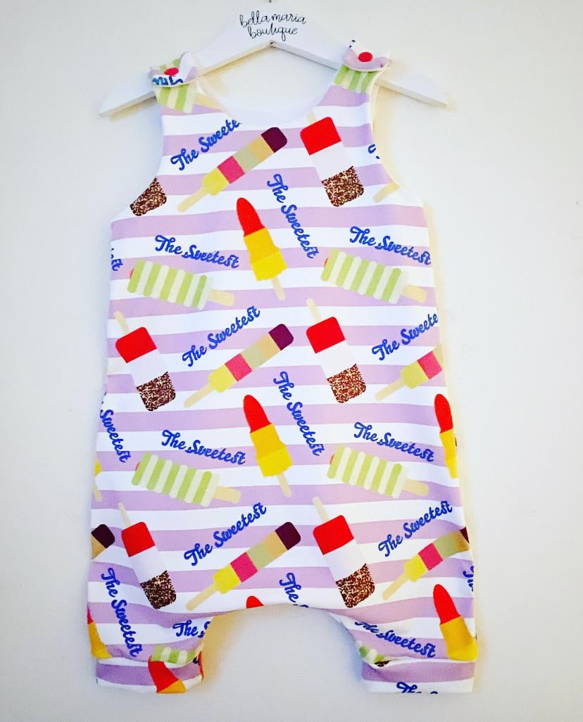 The Sweetest Ice Lolly Short Dungaree Romper