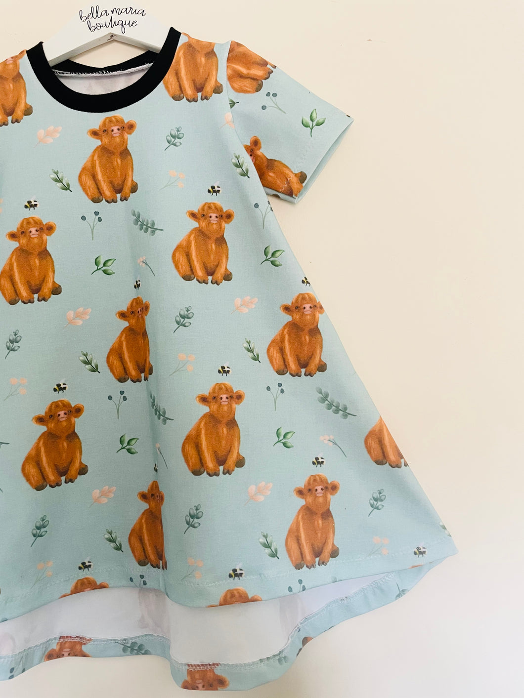 Baby Highland Cow Dress