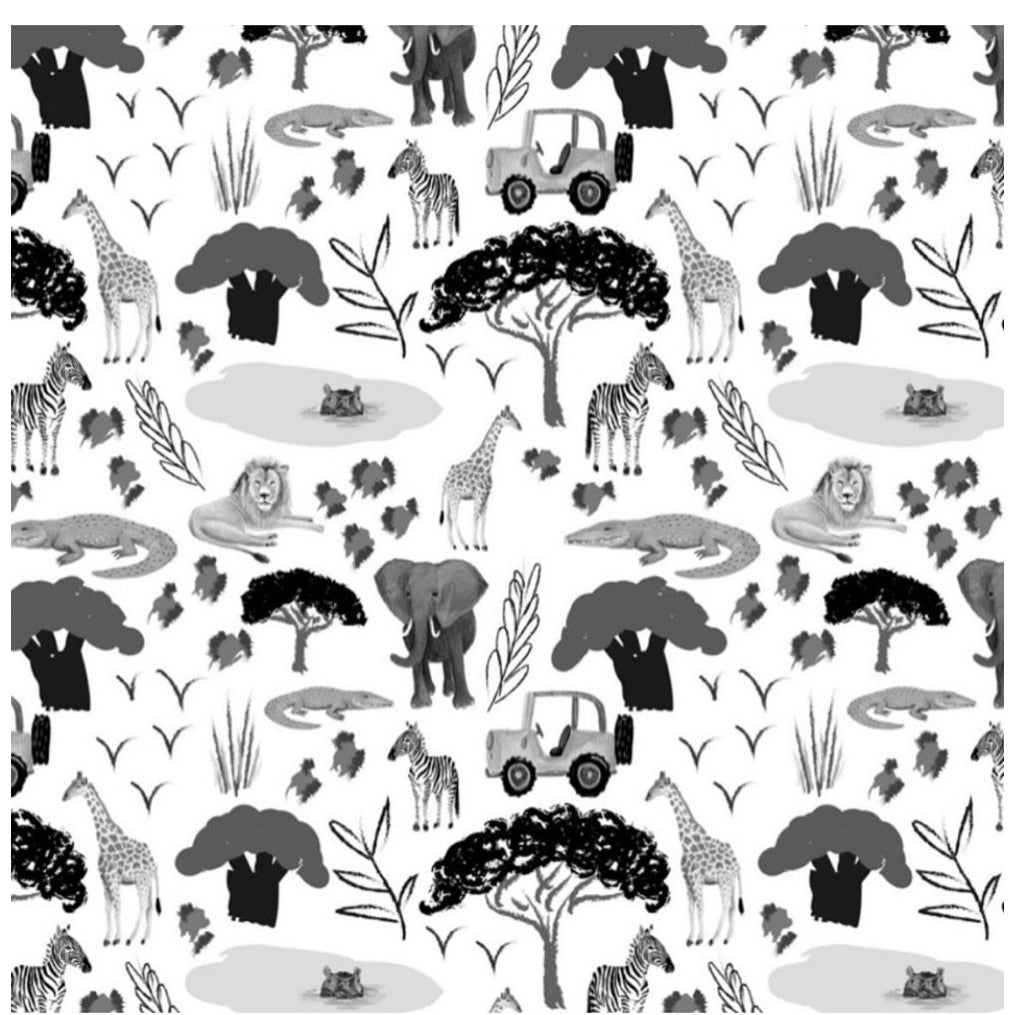 Monochrome Animal Safari Leggings