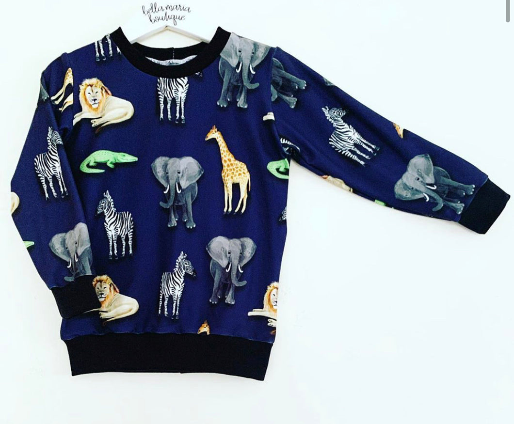 Navy Animals Jumper