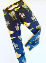 Navy Animals Leggings