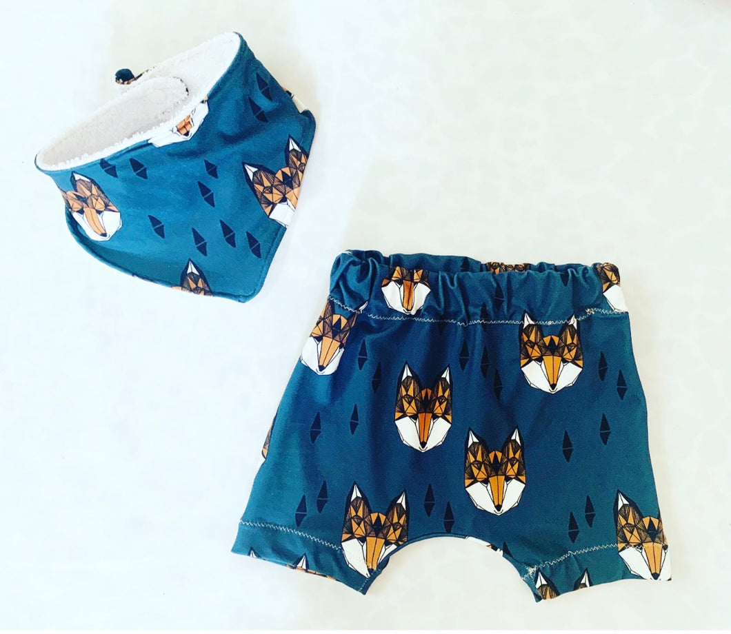 Navy Fox Shorts
