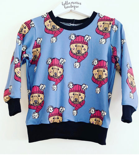 Winter Bear Blue Jumper