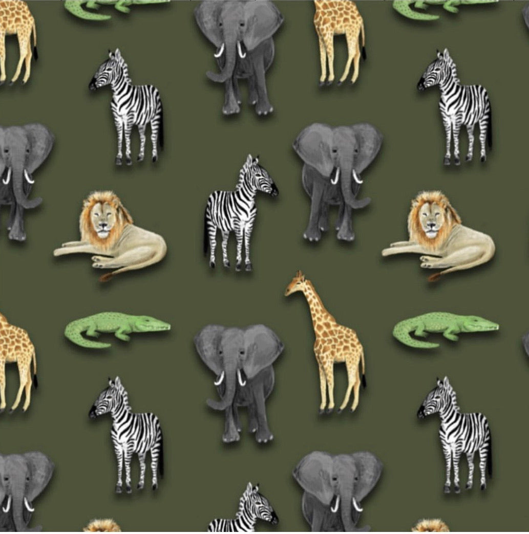 Khaki Animals Shorts