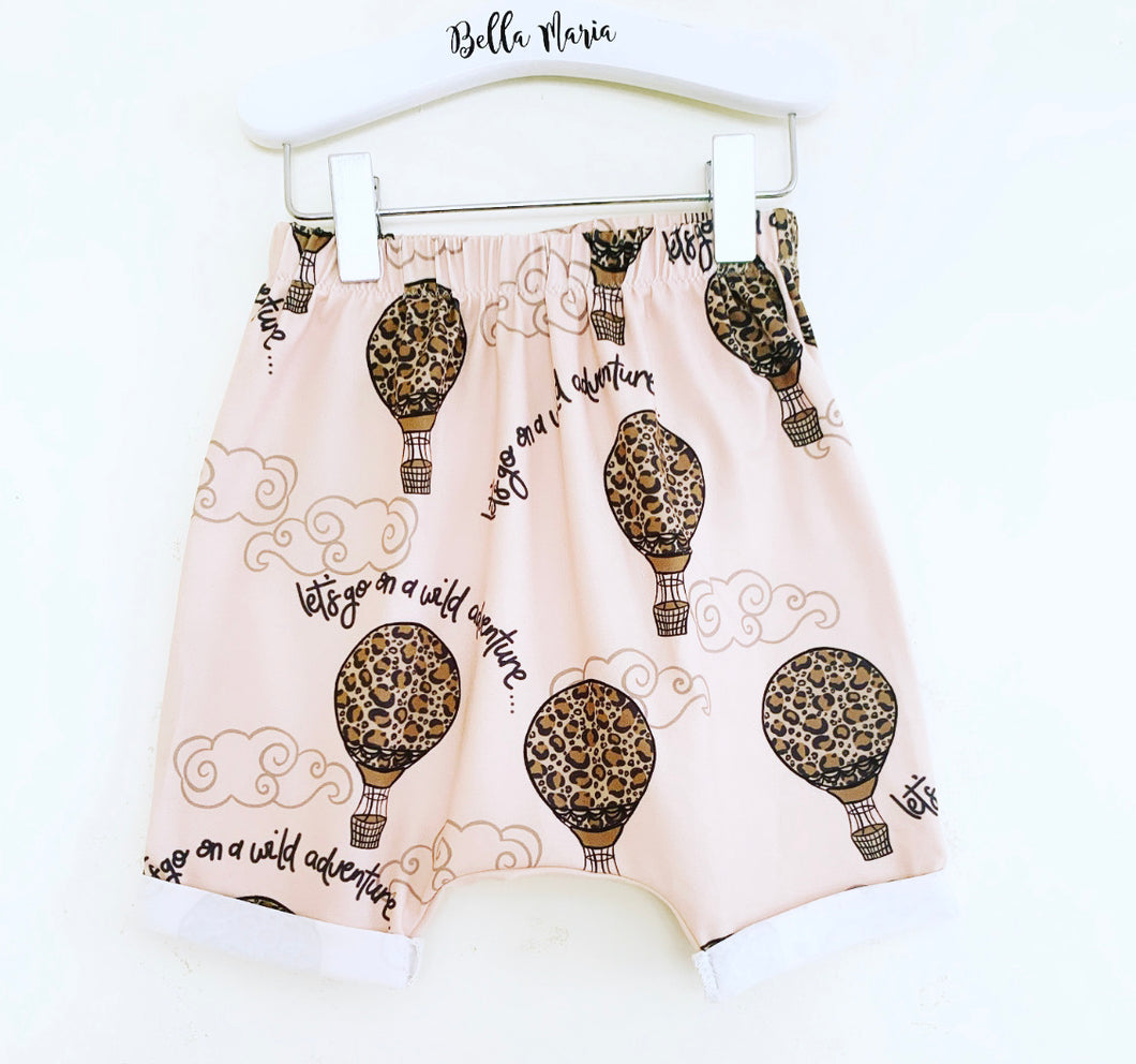 Pink Wild Adventure Hot Air Balloon Shorts