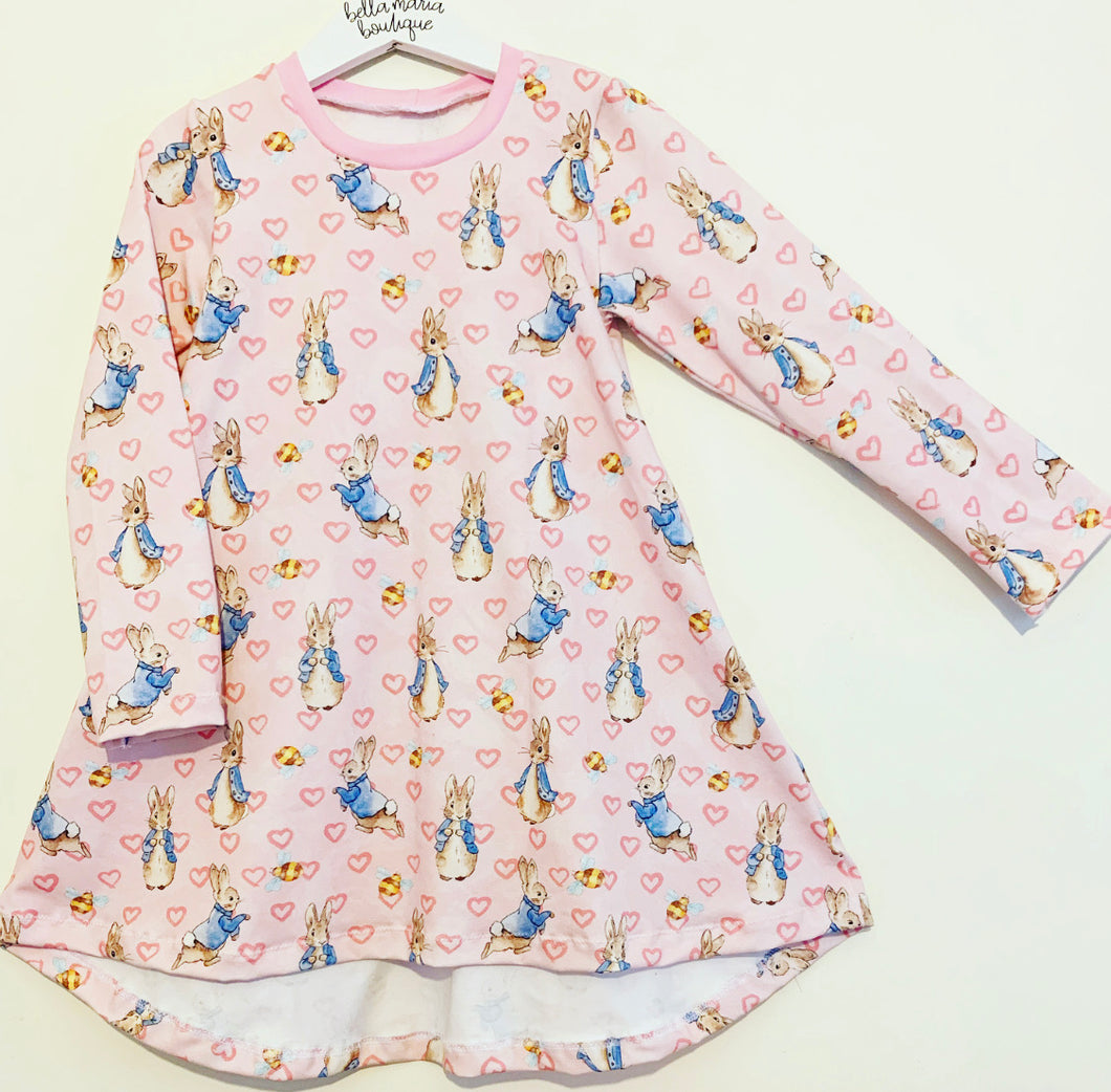 Pink Heart Peter Rabbit Dress