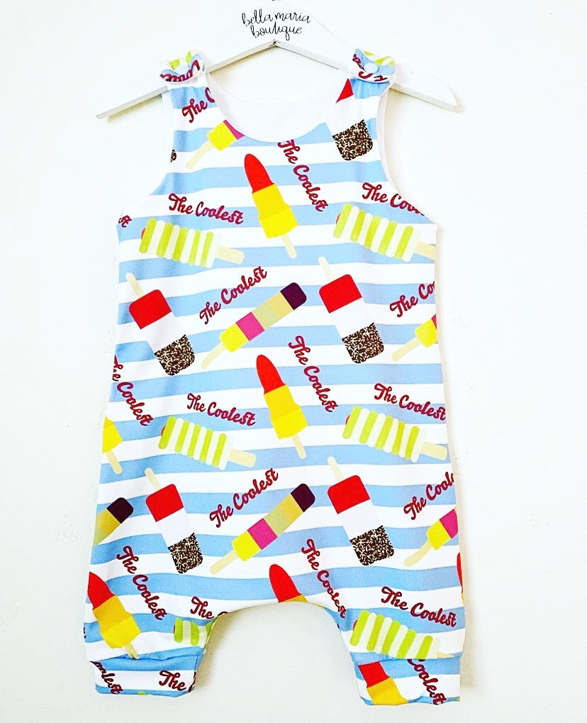 The Coolest Ice Lolly Short Dungaree Romper