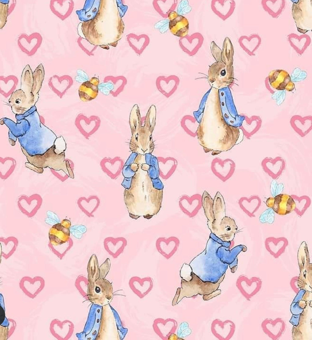 Pink Hearts Peter Rabbit Leggings