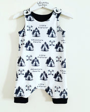 Little Explorer Adventure Awaits Dungaree Romper