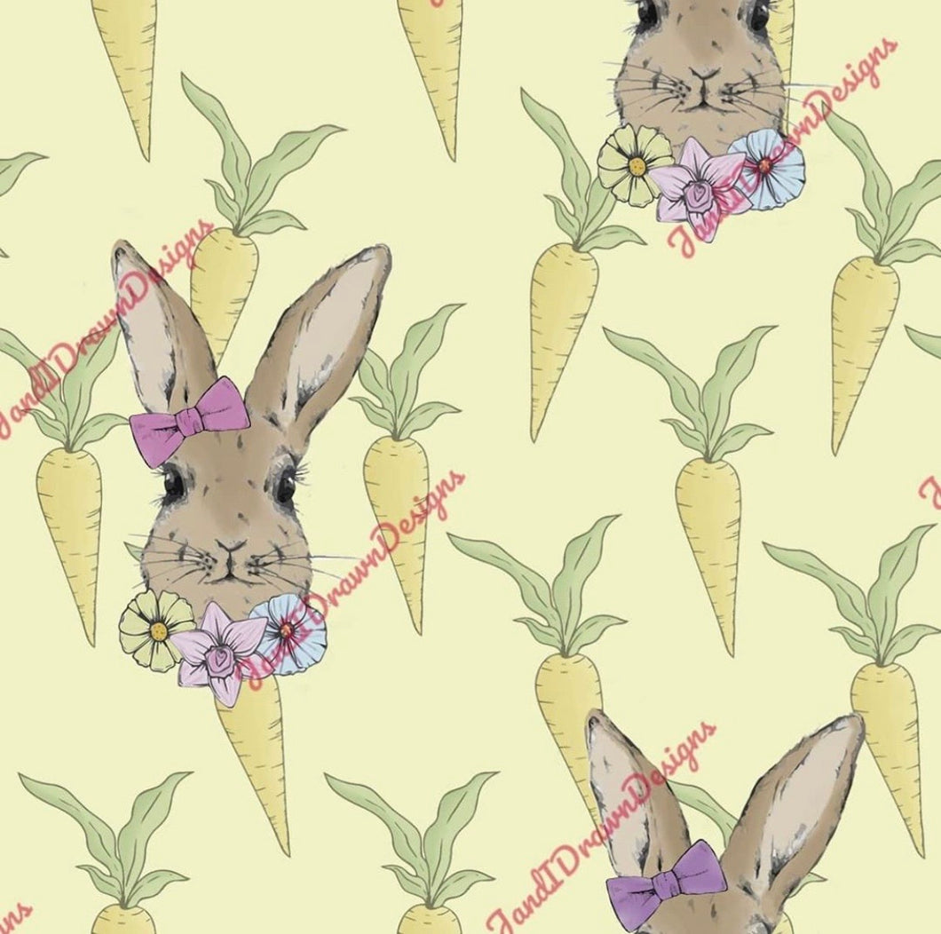 Lemon Rabbit Bow & Carrots Jumper