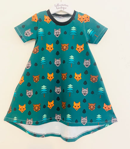 Geo Woodland Animals Dress