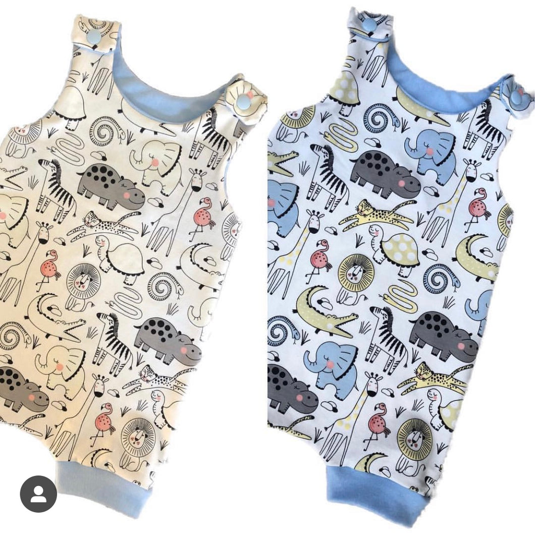 Colour Changing Animals Short Dungaree Romper