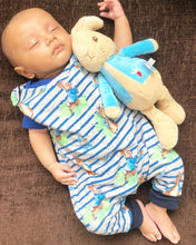 Blue Stipe Peter Rabbit Dungaree Romper