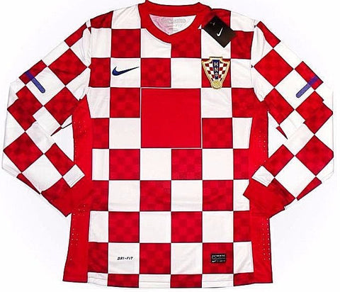 CROATIA *RARE* Euro'12 PLAYER ISSUE L/Sleeved Home Jersey (XL) - Classicsoccerstore