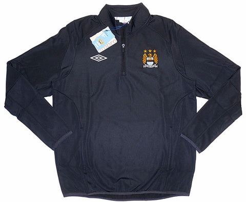 MANCHESTER CITY 2010-11 Training Microfleece Top (XL) - Classicsoccerstore