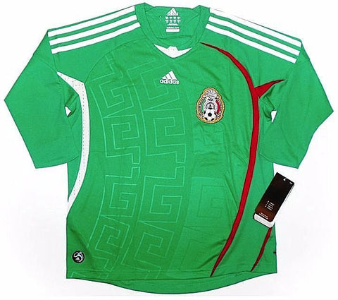 MEXICO *RARE* 2008-09 Home 3/4 Sleeve Jersey (Medium Youths) - Classicsoccerstore
