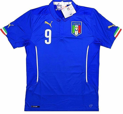 ITALY *BALOTELLI #9* 2014 World Cup Home Jersey (Large) - Classicsoccerstore