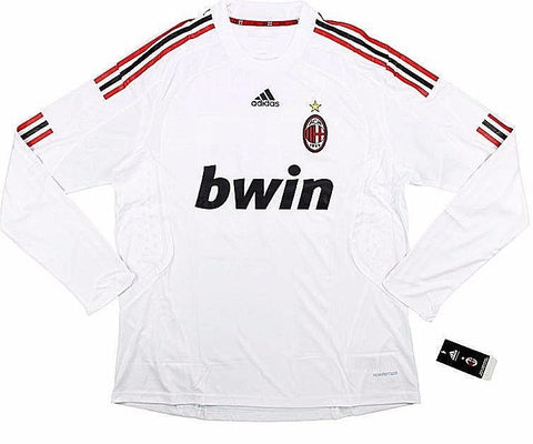 AC MILAN *VERY RARE* 2008-09 PLAYER ISSUE L/S Away Jersey (XL) - Classicsoccerstore