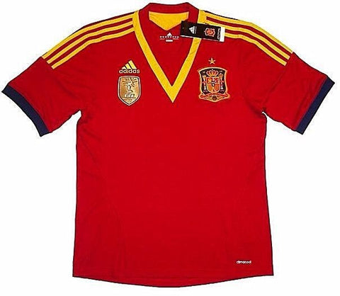 SPAIN 2012-13 *EURO CHAMPIONS* Home Jersey (XL) - Classicsoccerstore