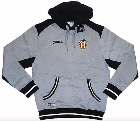 VALENCIA 2012-13 Gray Hooded Top (Large) - Classicsoccerstore