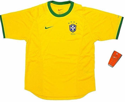 BRAZIL *VINTAGE* 2000-02 Home Jersey (Medium Youths) - Classicsoccerstore