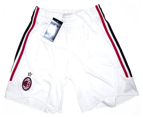AC MILAN *RARE* 2007-08 PLAYER ISSUE Home Shorts (Small) - Classicsoccerstore