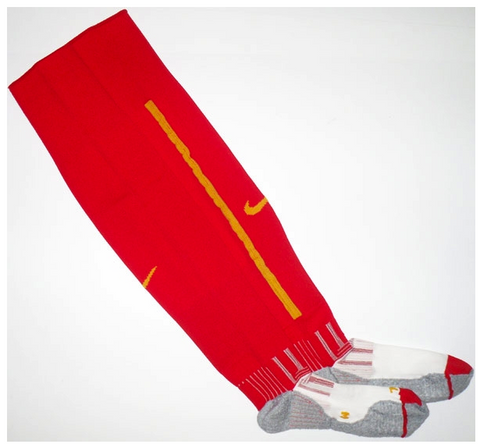 BELGIUM *RARE* 2008-10 PLAYER ISSUE Home Change Socks - Classicsoccerstore
