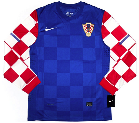 CROATIA *RARE* 2010-12 PLAYER ISSUE L/Sleeved Away Jersey (XL) - Classicsoccerstore