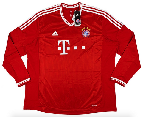 BAYERN MUNICH 2013-14 Long Sleeved Home Jersey (3XL) - Classicsoccerstore