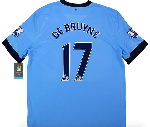 MANCHESTER CITY 2014-15 *DE BRUYNE #17* Home Jersey (XL) - Classicsoccerstore