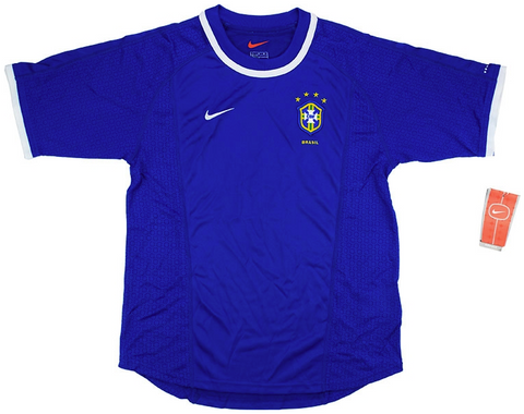 BRAZIL *VINTAGE* 2000-02 Away Jersey (Medium Youths) - Classicsoccerstore