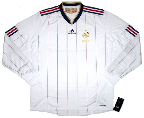 FRANCE 2009-10 *RARE* L/Sleeved Player Issue Away Jersey (2XL) - Classicsoccerstore