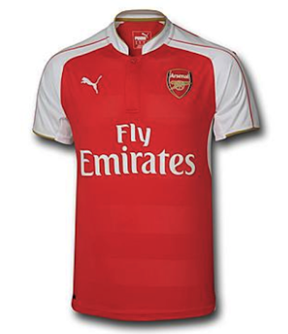 ARSENAL 2015-16 Home Jersey (Large Youths) - Classicsoccerstore