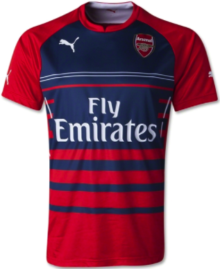 ARSENAL 2014-15 Home Pre-Match Training Jersey (Large) - Classicsoccerstore