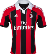 AC MILAN 2012-13 Home Jersey (XL) - Classicsoccerstore