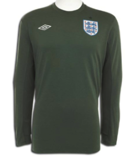 ENGLAND 2009-11 PLAYER ISSUE Goalkeepers' Jersey (XL) - Classicsoccerstore