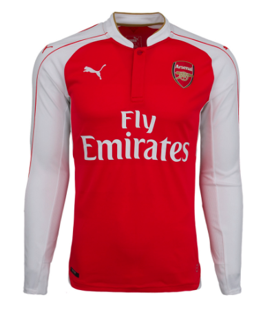 ARSENAL 2015-16 Home *ALEXIS #17* Long-Sleeved Jersey (Large Youths) - Classicsoccerstore