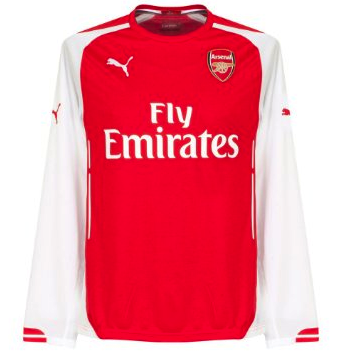 ARSENAL 2014-15 Home L/Sleeved Jersey (Large) - Classicsoccerstore