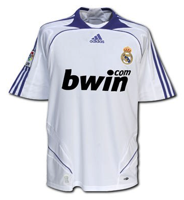 REAL MADRID *VERY RARE* 2007-08 Home Jersey (XL) - Classicsoccerstore
