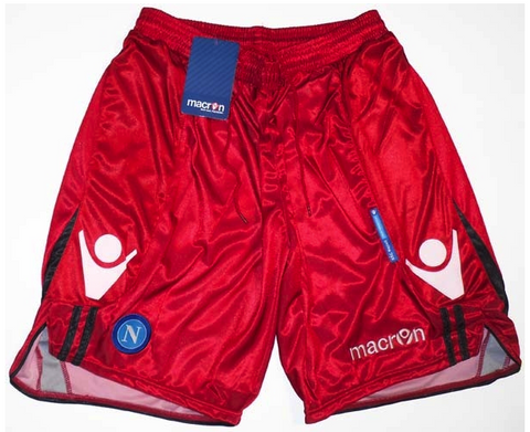 NAPOLI 2010-11 PLAYER ISSUE Goalkeepers' Shorts (2XL) - Classicsoccerstore