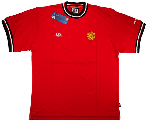 MANCHESTER UNITED *VINTAGE* 2000-2002 Training Tee - Classicsoccerstore