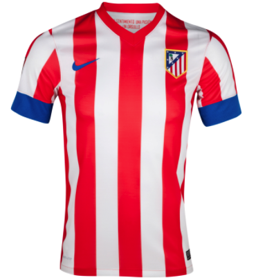 ATLETICO MADRID 2012-13 Home Jersey (XL) - Classicsoccerstore