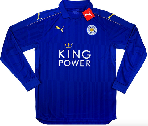 LEICESTER CITY 2016-17 Long Sleeved Home Jersey (M)