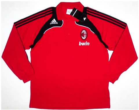AC MILAN 2008-09 PLAYER ISSUE L/Sleeved Polo (2XL) - Classicsoccerstore