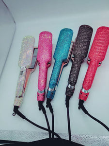 "Rhinestone Flat Iron 2"" Large - Elysian Hair Boutique"