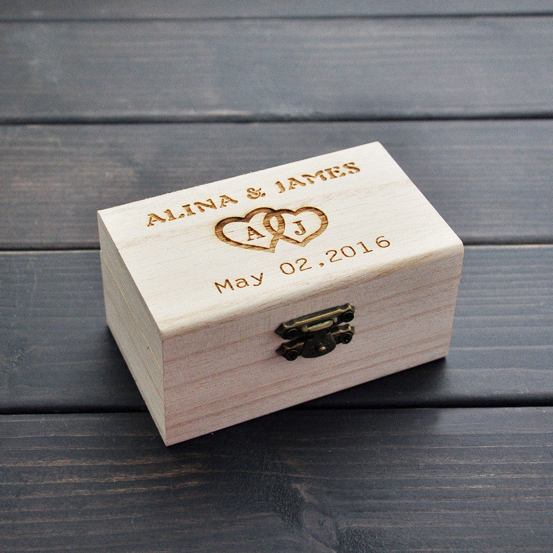 Customizable personalized rustic wedding ring or jewelry bearer wedding ring box customizable personalized rustic wedding ring bearer box junglespirit Images
